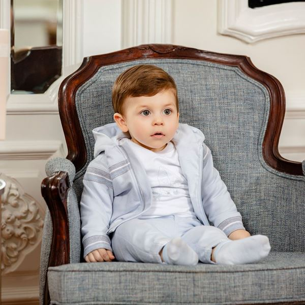 Picture of Patachou Boys 3 Piece Pale Blue Tracksuit