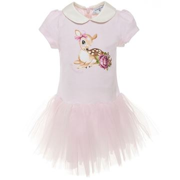 Picture of Monnalisa Baby Pink Tulle Skirt Dress