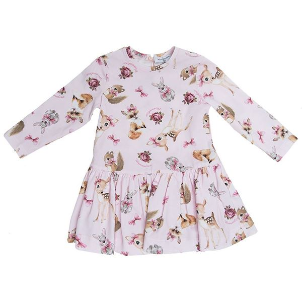 Picture of Monnalisa Baby Pink Printed Dress