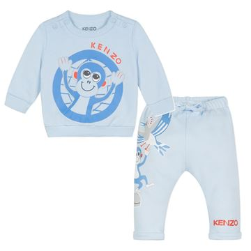 Picture of Kenzo Baby Boys Blue Tracksuit