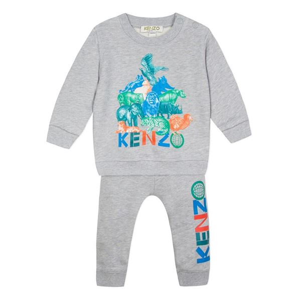 Picture of Kenzo Baby Boys Grey Tiger Tracksuit