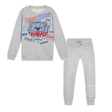 Picture of Kenzo Boys Grey Tracksuit
