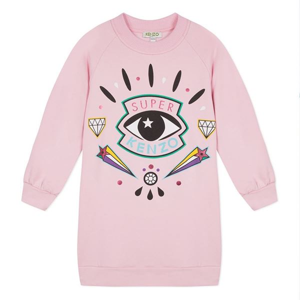 Picture of Kenzo Girls Pink Eye Dress