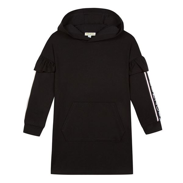 Picture of Kenzo Girls Black Hooded Dress