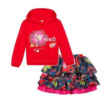 Picture of Kenzo Girls Jumper & Skirt Set