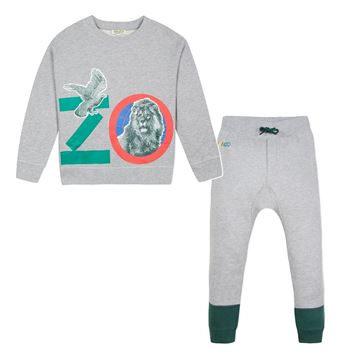 Picture of Kenzo Boys Grey Logo Tracksuit