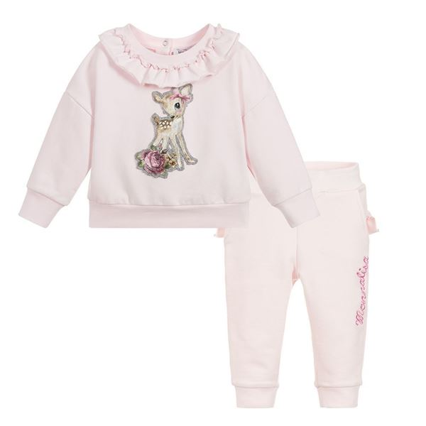 Picture of Monnalisa Baby Pink Tracksuit