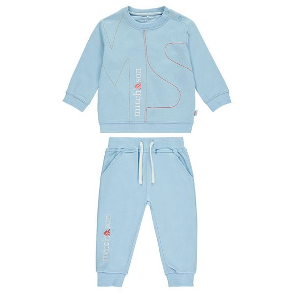 Picture of Mitch & Son Pale Blue 'MS' Tracksuit