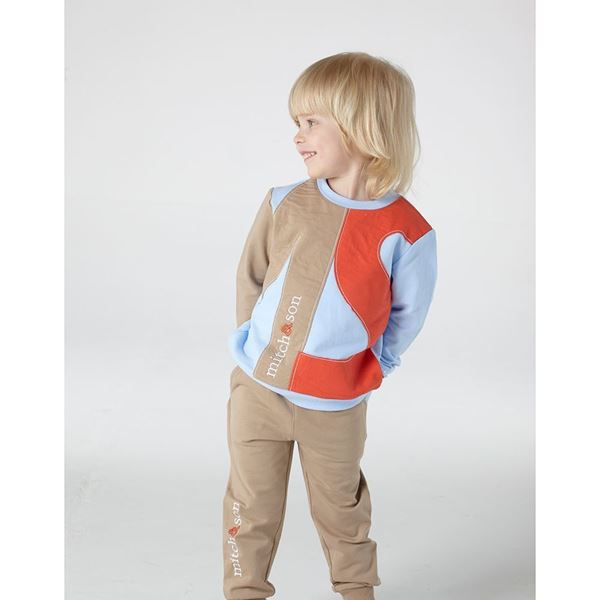 Picture of Mitch & Son Beige 'MS' Tracksuit