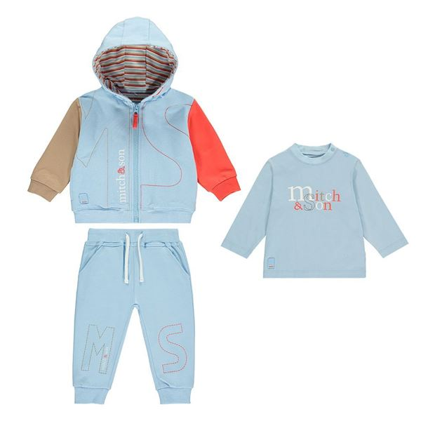 Picture of Mitch & Son 3 Piece Blue Tracksuit