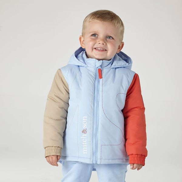 Picture of Mitch & Son Pale Blue 'MS' Coat