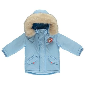 Picture of Mitch & Son Pale Blue Coat With Faux Fur