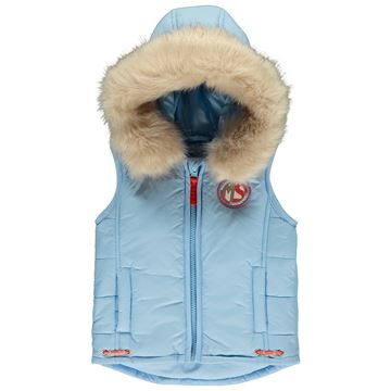 Picture of Mitch & Son Pale Blue Gilet With Faux Fur Hood