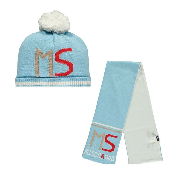 Picture of Mitch & Son Pale Blue Hat & Scarf Set