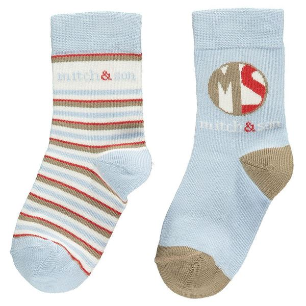 Picture of Mitch & Son Pale Blue Pack Of 2 Socks