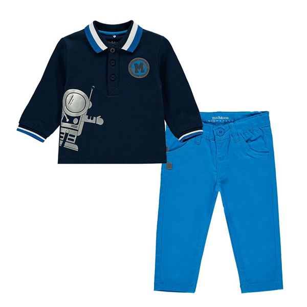 Picture of Mitch & Son 2 Piece 'Space' Polo Set