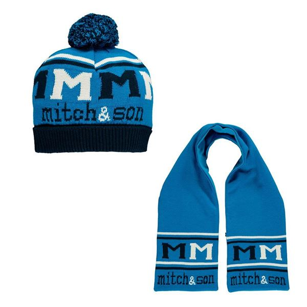 Picture of Mitch & Son Royal Blue Hat & Scarf Set