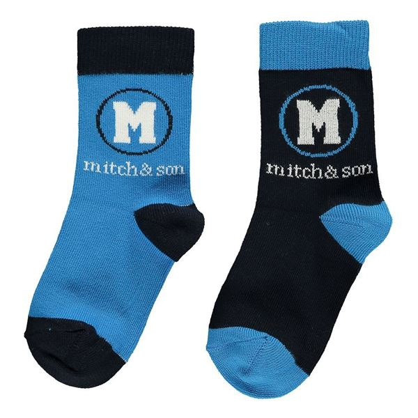 Picture of Mitch & Son Royal Blue Pack Of 2 Socks
