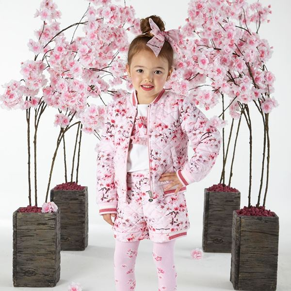 Picture of Ariana Dee Pink Blossom 3 Piece Short Set