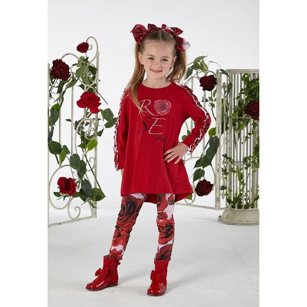 Picture of Ariana Dee Red Rose Print Leggings Set