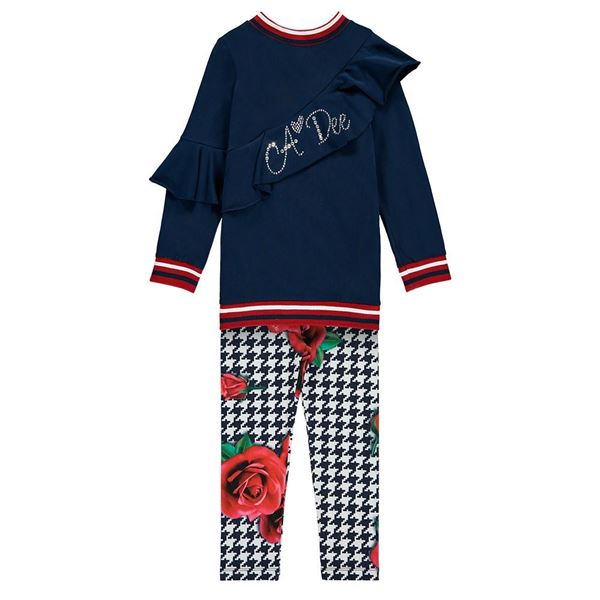Picture of Ariana Dee Navy Rose Leggings Set