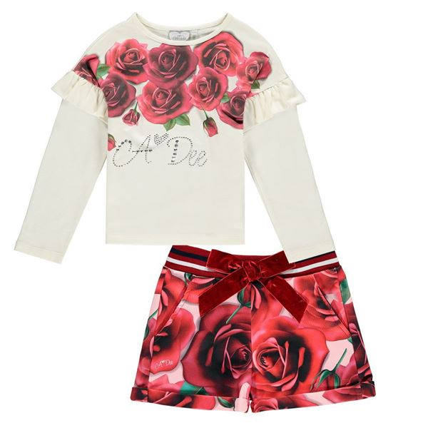 Picture of Ariana Dee Red Rose 2 Piece Short Set