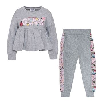 Picture of Monnalisa Grey 'Glam' Tracksuit