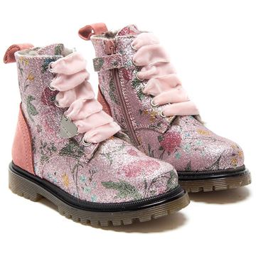 Picture of Monnalisa Pink Glitter Flower Boots