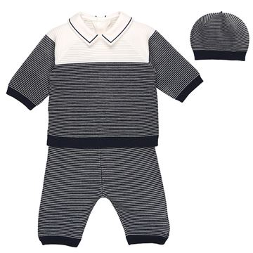 Picture of Emile Et Rose 'Reggie' Navy 2 Piece Set With Hat