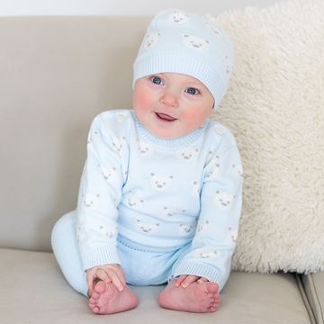 Picture of Emile Et Rose 'Rex' Pale Blue Teddy 2 Piece Set