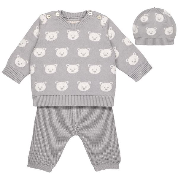 Picture of Emile Et Rose 'Rex' Grey 2 Piece Teddy Set