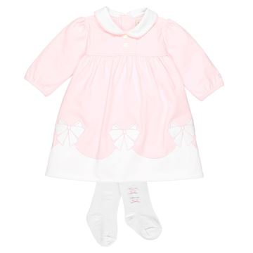 Picture of Emile Et Rose 'Rikka' Pale Pink Dress With Tights