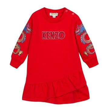 Picture of Kenzo Girls Red Jumper Dress