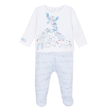 Picture of Kenzo Baby Pale Blue Animal Romper