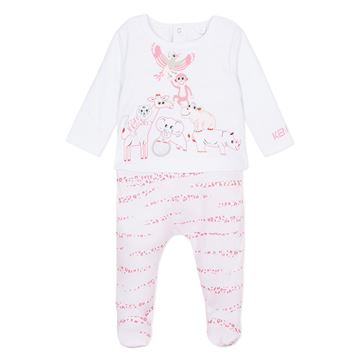 Picture of Kenzo Baby Pale Pink Animal Romper