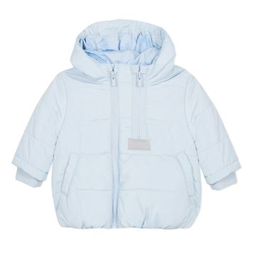 Picture of Kenzo Baby Blue Padded Coat With Hood
