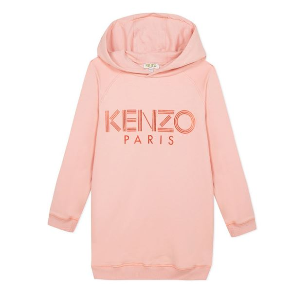 Picture of Kenzo Girls Pink Hooded Dress