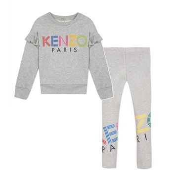Picture of Kenzo Girls Grey 2 Piece Leggings Set