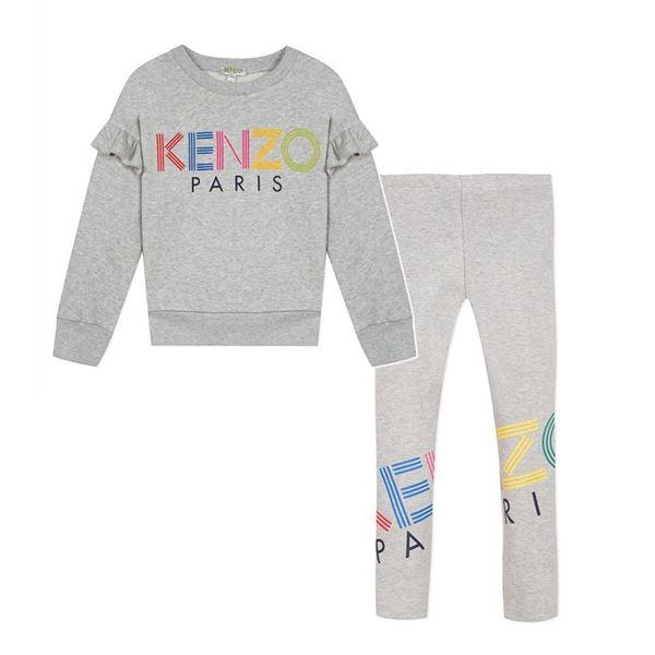 Picture of Kenzo Girls Grey 2 Piece Leggings Set