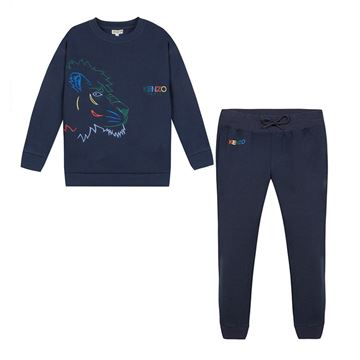 Picture of Kenzo Boys Navy 2 Piece Tracksuit