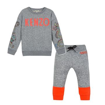 Picture of Kenzo Baby Boys Grey 2 Piece Tracksuit