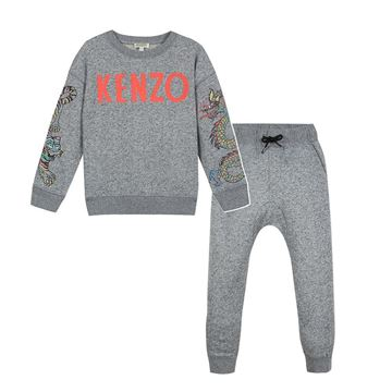 Picture of Kenzo Boys Grey 2 Piece Tracksuit