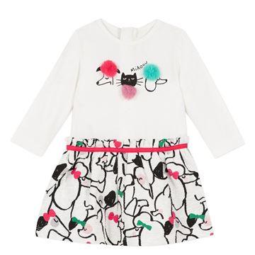 Picture of Catimini Baby Cream Printed Dress