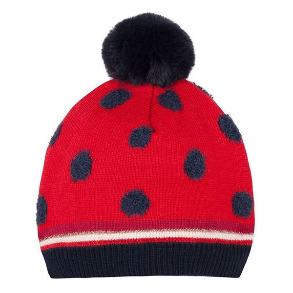 Picture of Catimini Baby Girls Navy & Red Knitted Hat