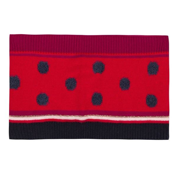 Picture of Catimini Baby Girl Navy & Red Printed Snood