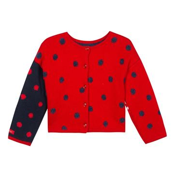 Picture of Catimini Baby Girl Navy & Red Printed Cardigan