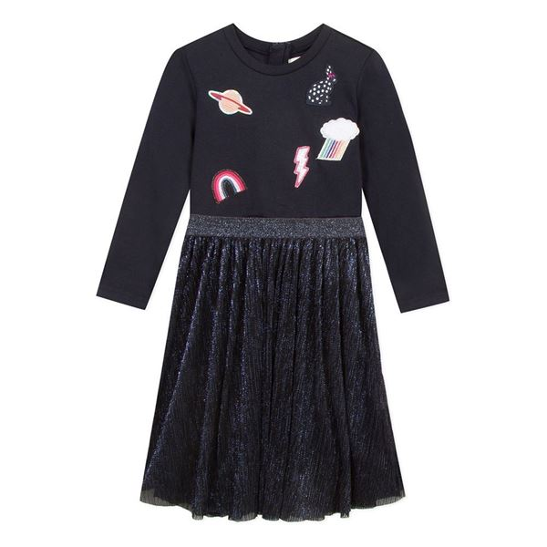 Picture of Catimini Girls Navy Tulle Dress