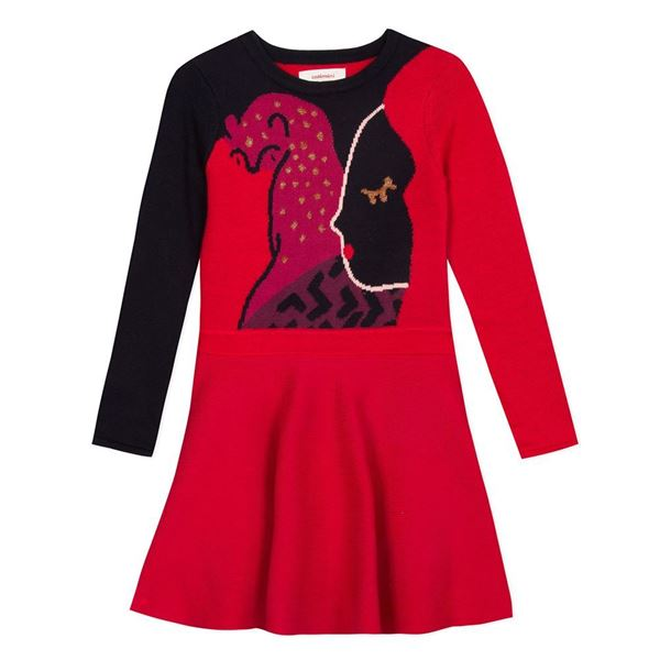 Picture of Catimini Girls Navy Knitted Dress