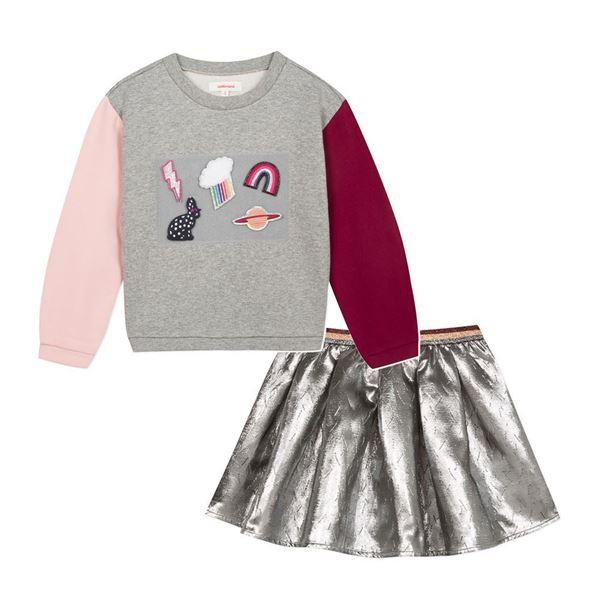 Picture of Catimini Girls Jumper & Skirt Set
