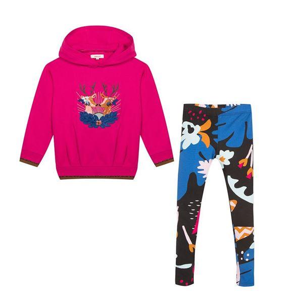 Picture of Catimini Girls Pink Jumper & Printed Leggings Set